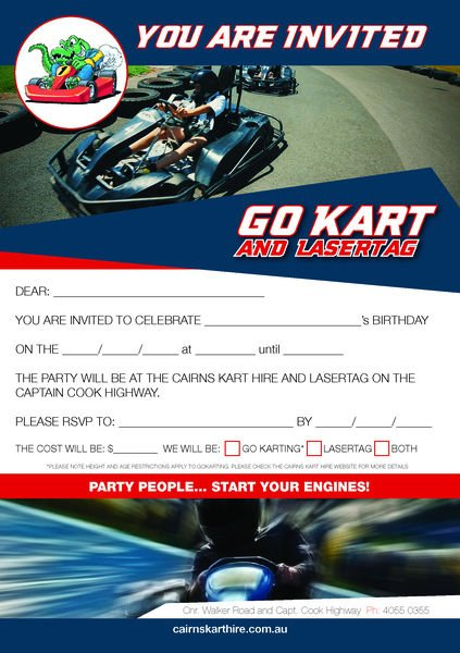 Kids Parties » Cairns Kart Hire and Laser Tag